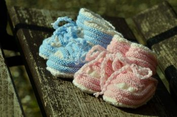 Knitting for babies knitted shoes