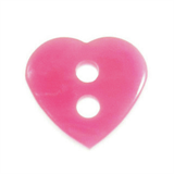 Small Plastic Heart Shaped Button - various colours - 11mm diameter