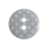Small Plastic Spotty Button - various colours - 15mm diameter